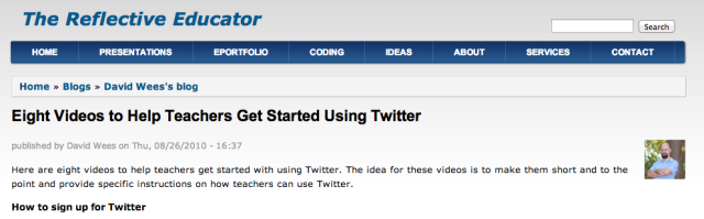 http://davidwees.com/content/eight-videos-help-teachers-get-started-using-twitter